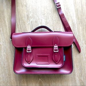 Oxblood Red Leather Satchel